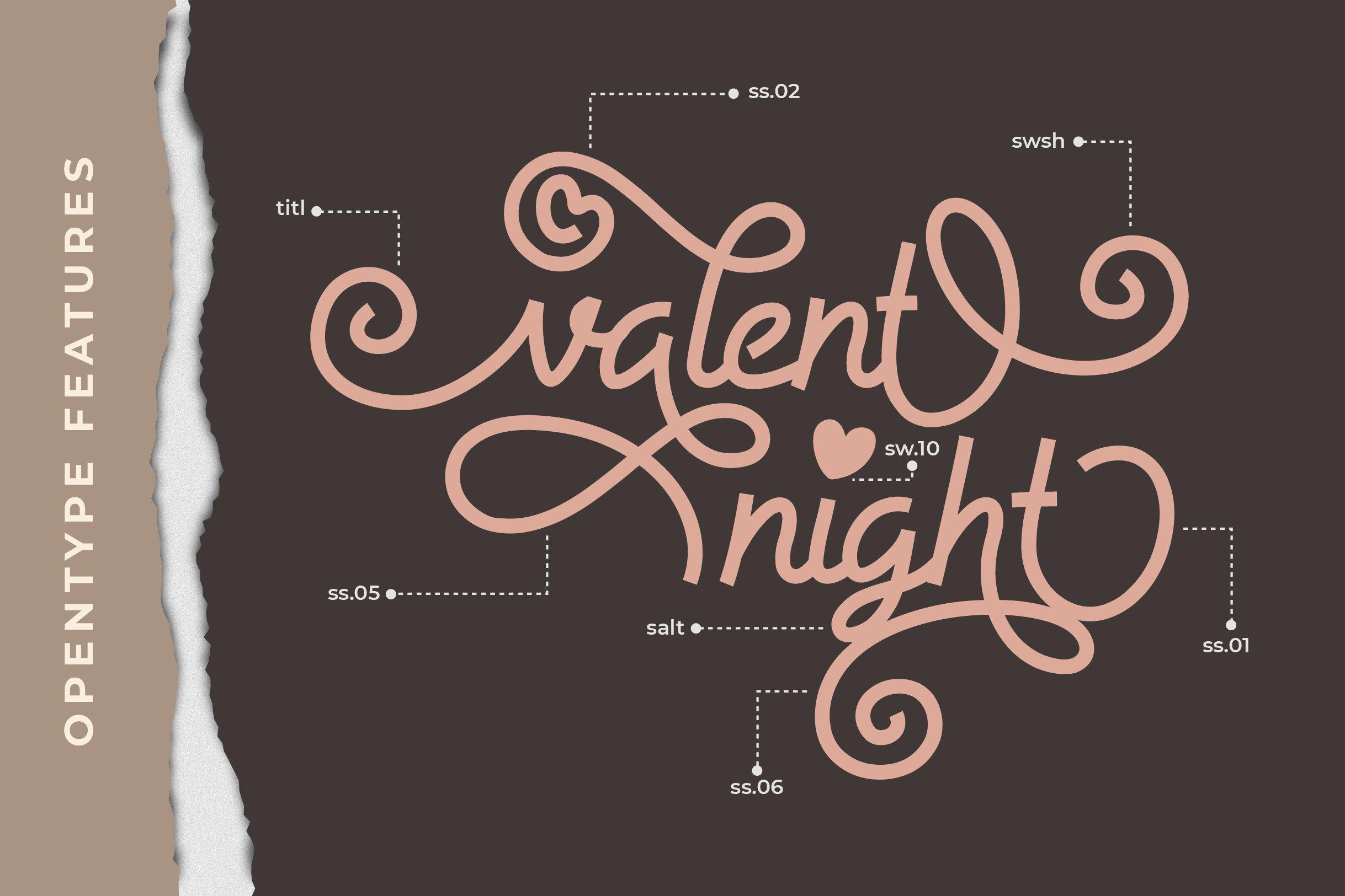 Allysia - a monoline script font example image 2