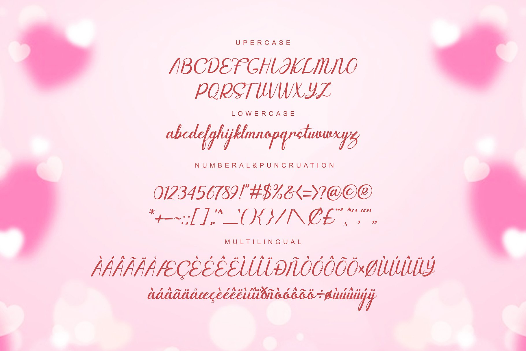 Canding Love - Script font Type face example image 9