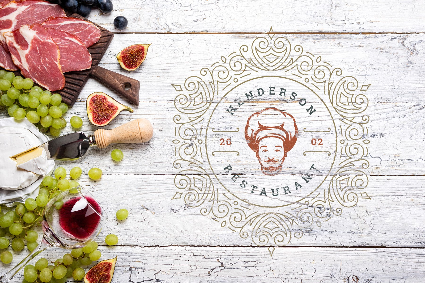 36 Restaurant Logos and Badges example image 19