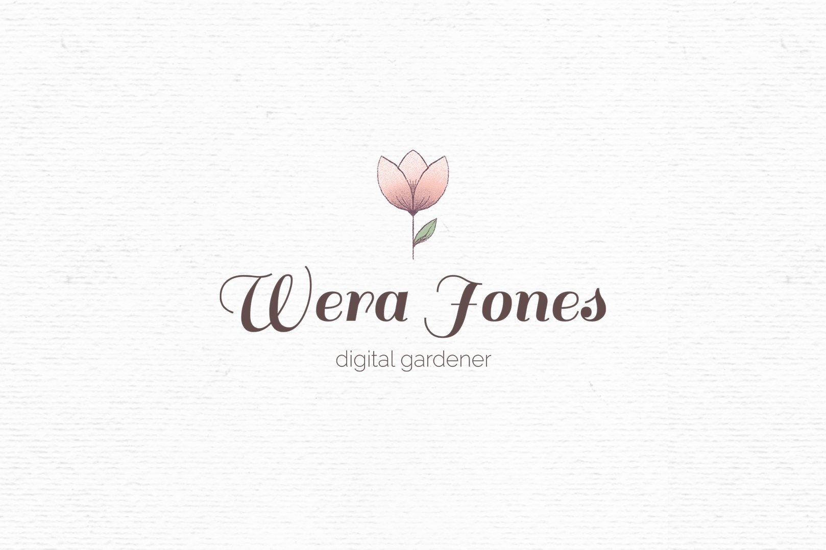 Premade logo design template for Photoshop | Flower logo example image 1