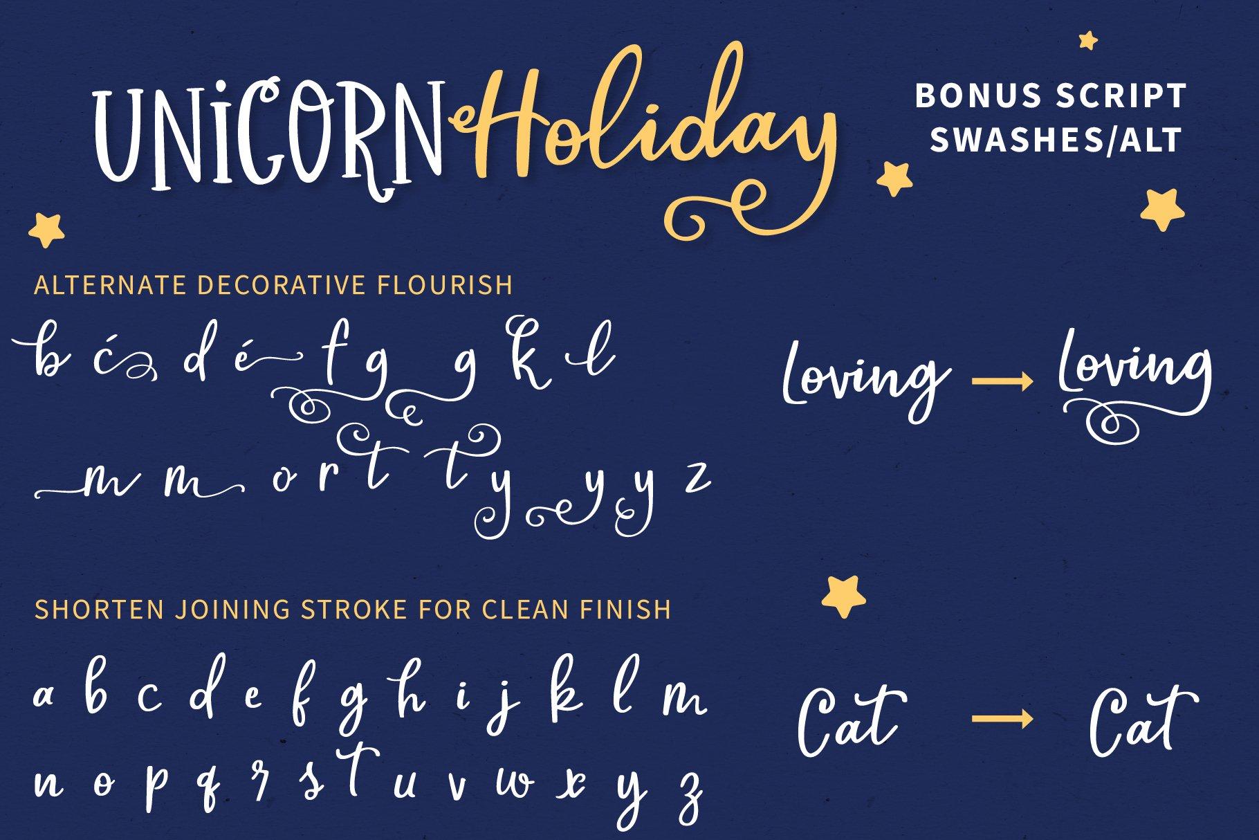 Unicorn Holiday Font Duo example image 8