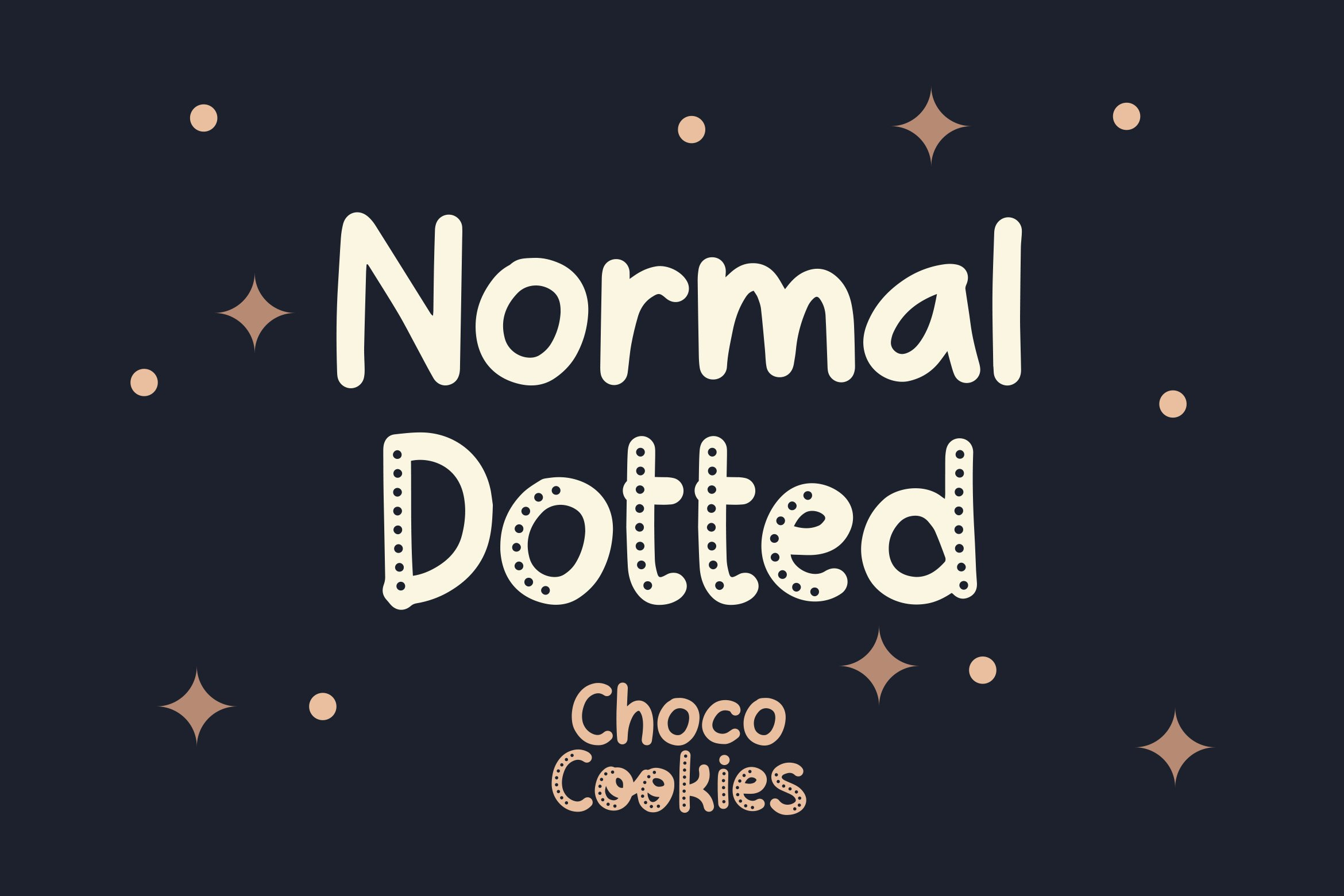 Choco Cookie - Playful Duo Font example image 2