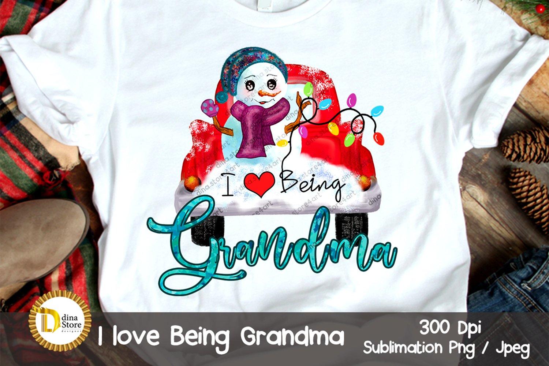 Download Christmas Sublimation Clipart I Love Being Grandma 951458 Sublimation Design Bundles