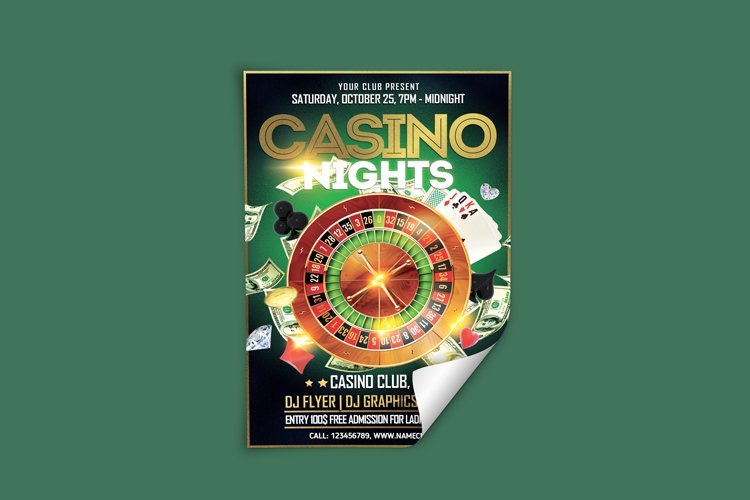 Casino Night Flyer 2 example image 2