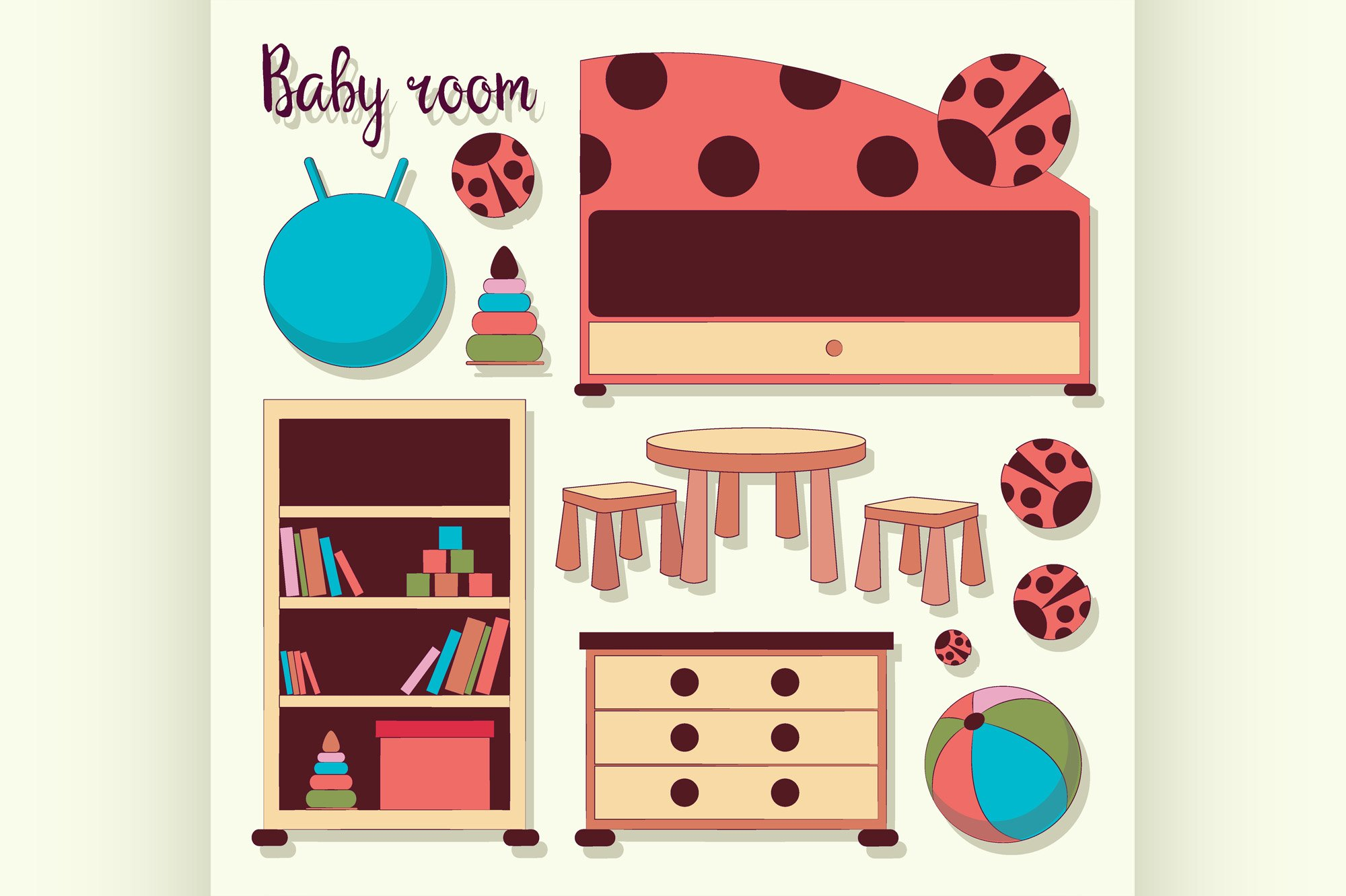 Interior of baby room example image 1