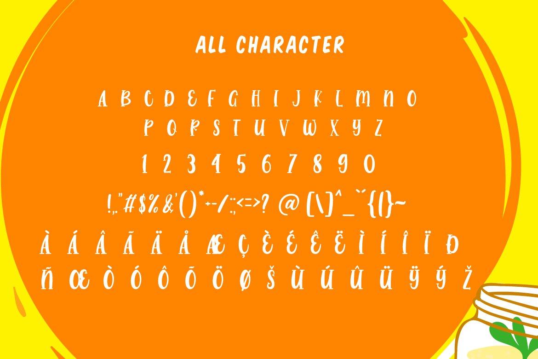 Range Orange - a Bouncy Sans example image 5