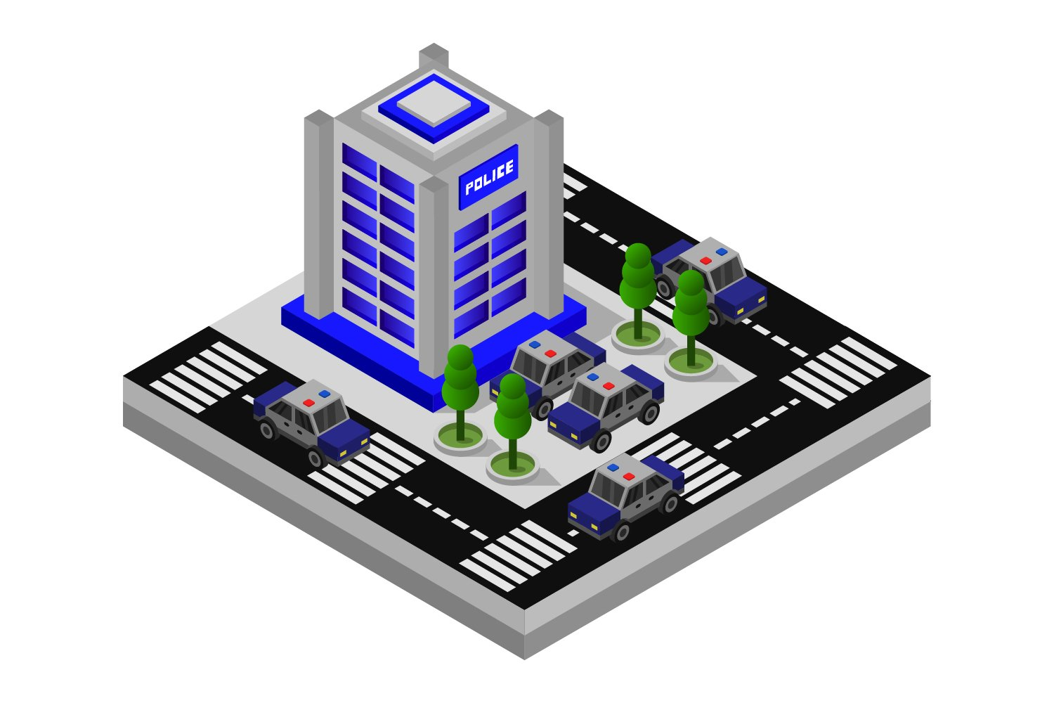 isometric police station example image 1