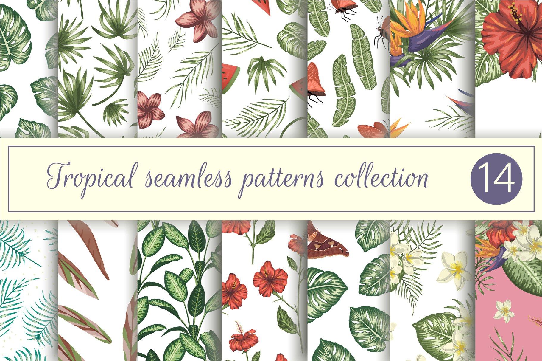 Download Tropical Seamless Patterns Collection Vol 3 416820 Patterns Design Bundles