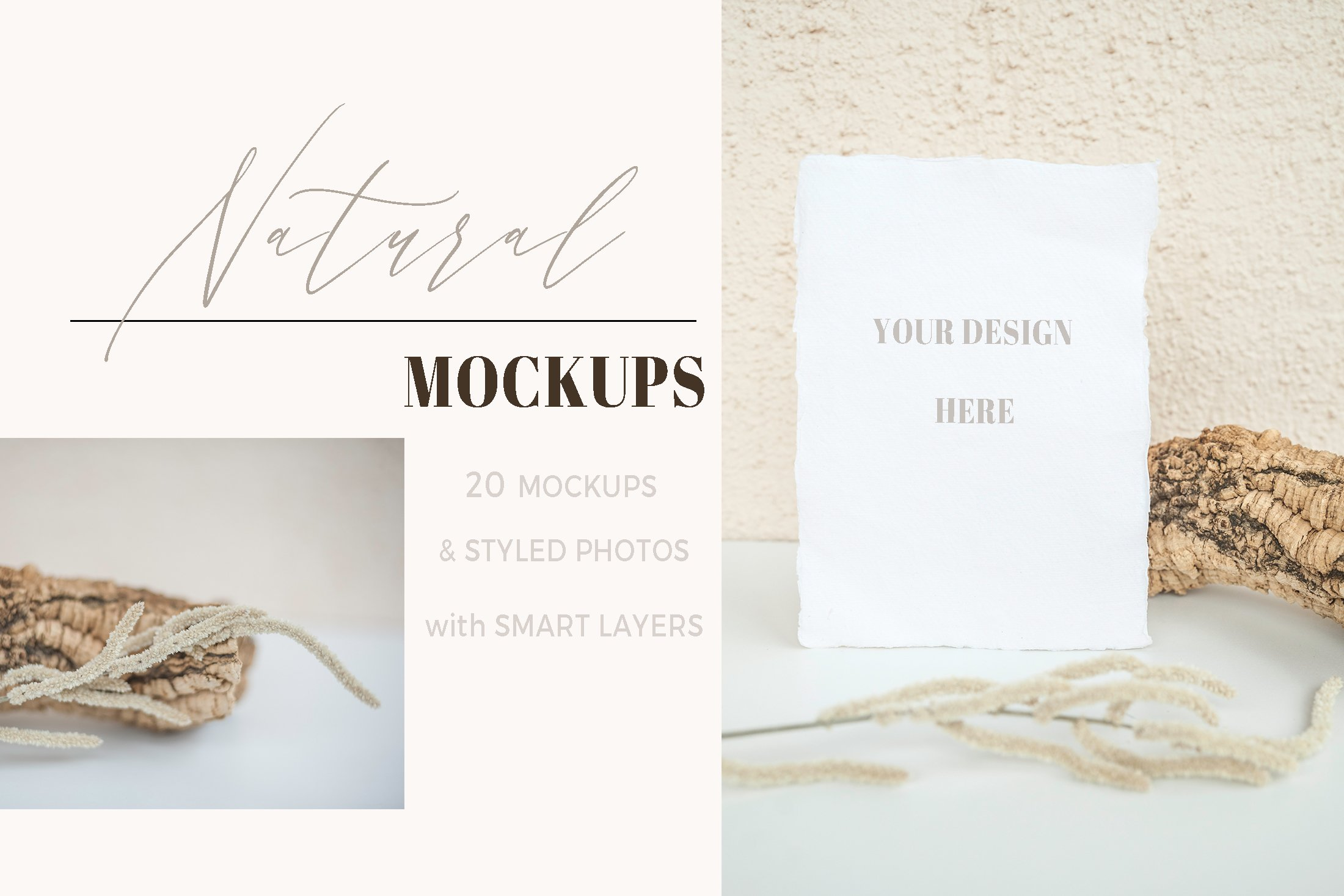 Natural. Mockup and style photos Soft and delicate nude. example image 4