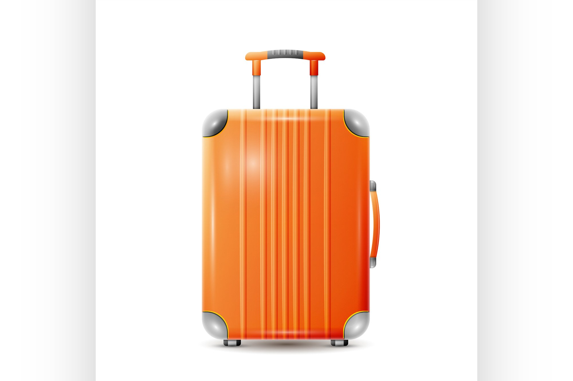 Large polycarbonate suitcase example image 1