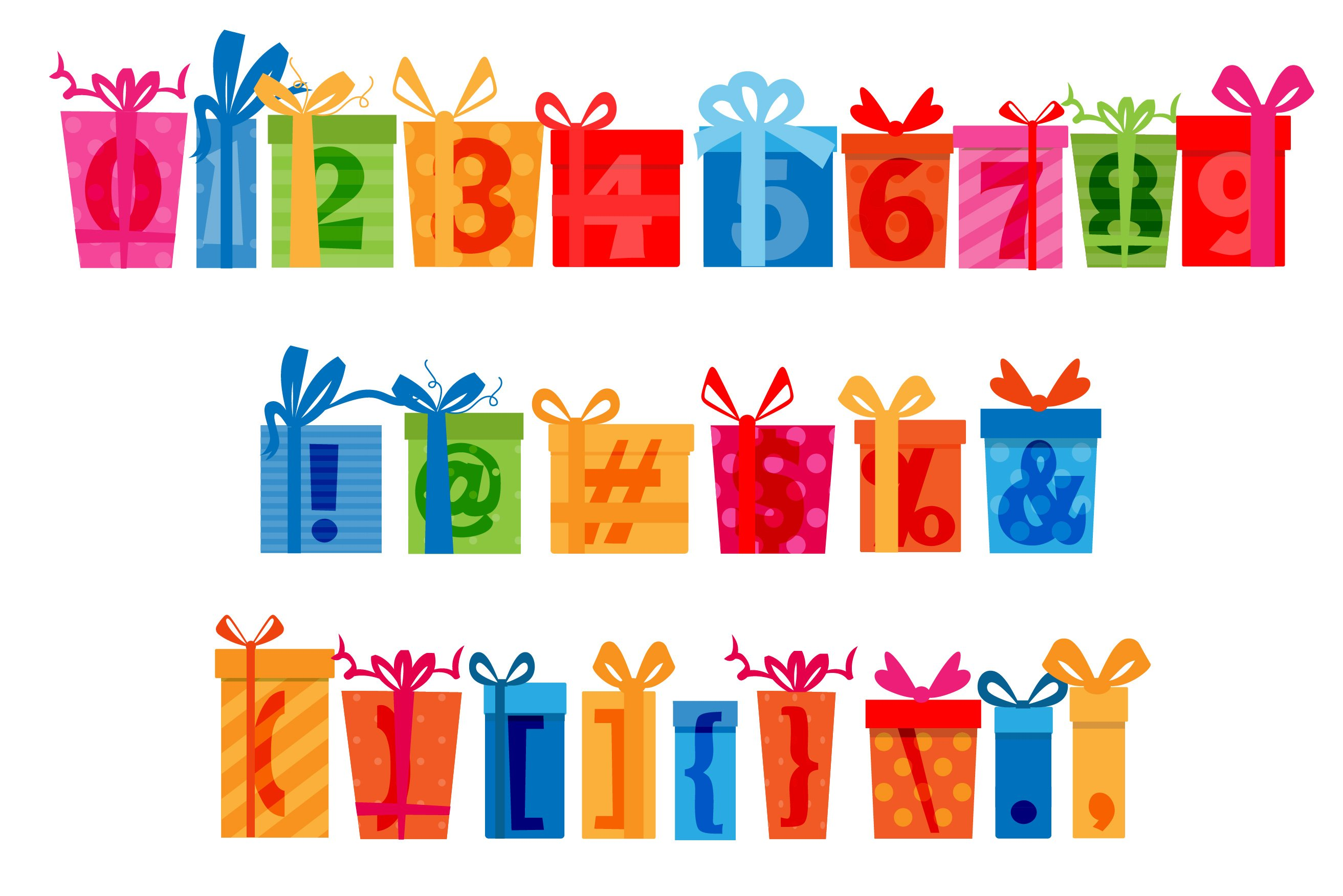 Birthday SVG Font Duo example image 13
