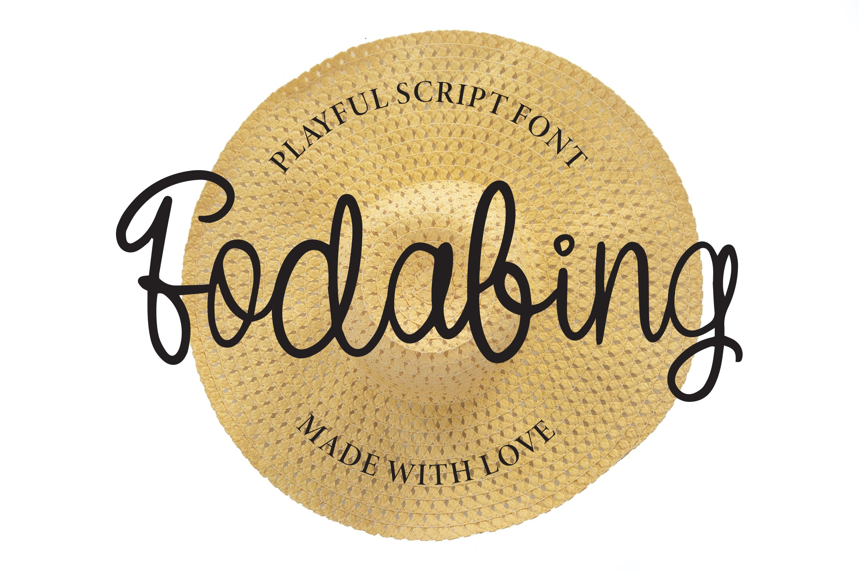 Fodabing - Playfull Script Fonts example image 1
