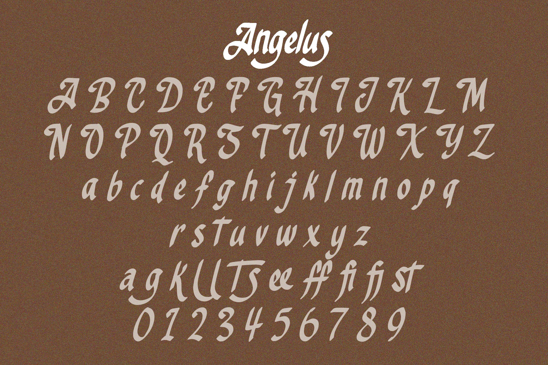 Angelus - Handrawn Calligraphic Font example image 7