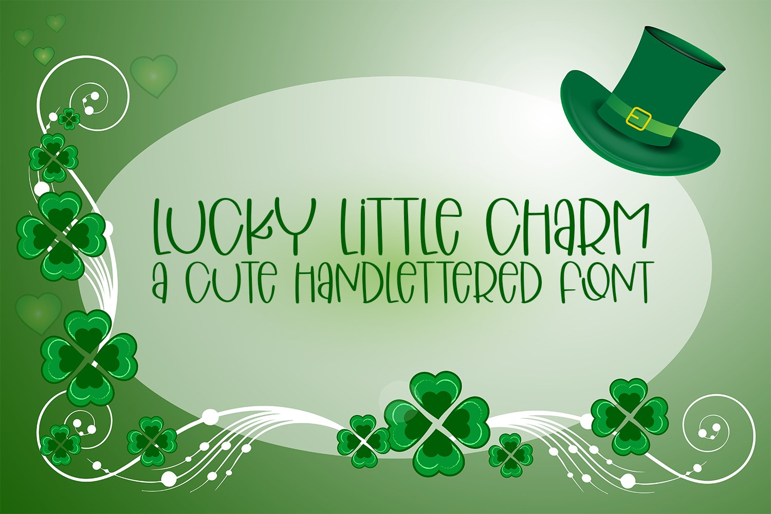 Lucky Little Charm - A Cute Hand-Lettered Font example image 1