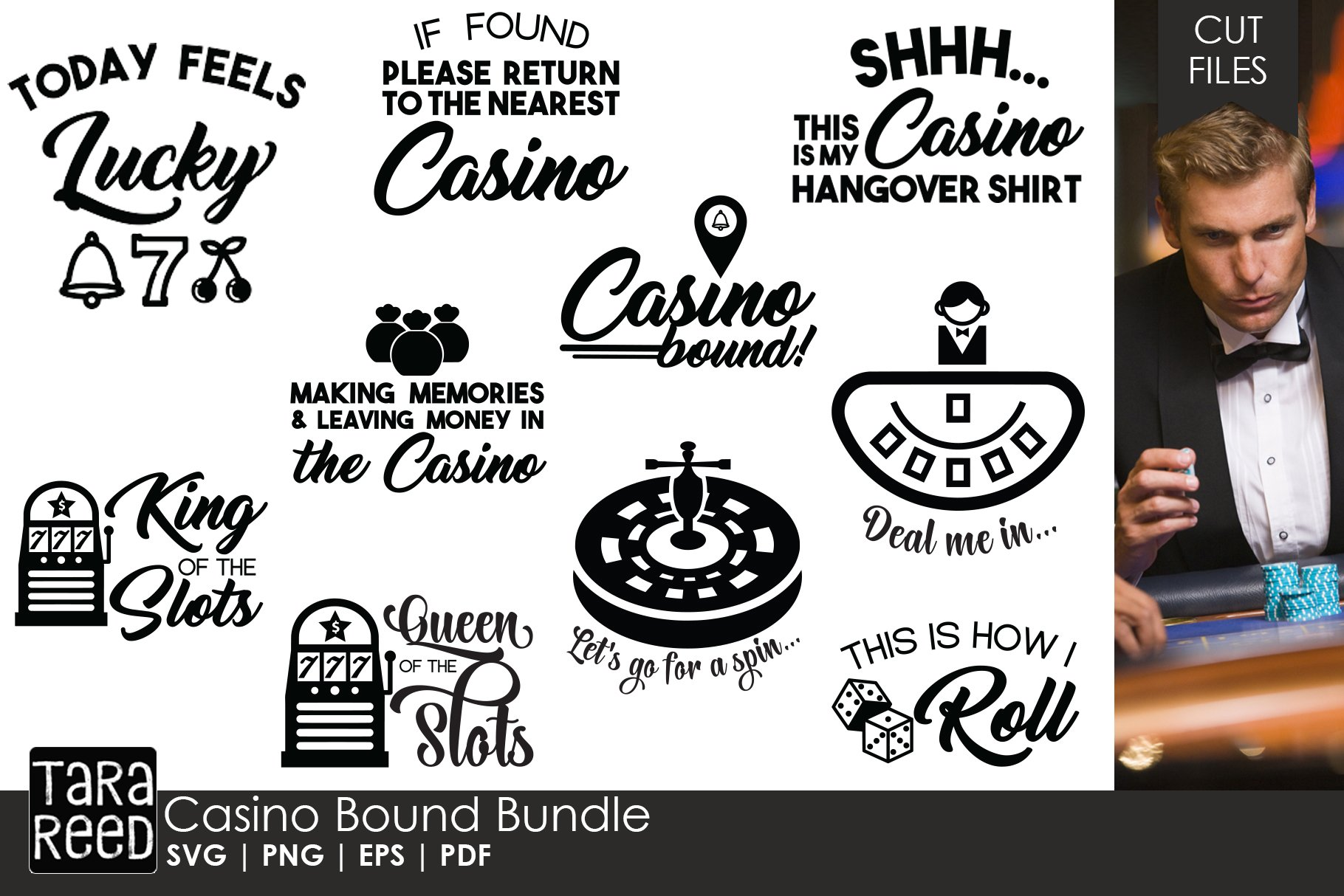 Casino Bound Casino Svg And Cut Files For Crafters 147523 Cut Files Design Bundles