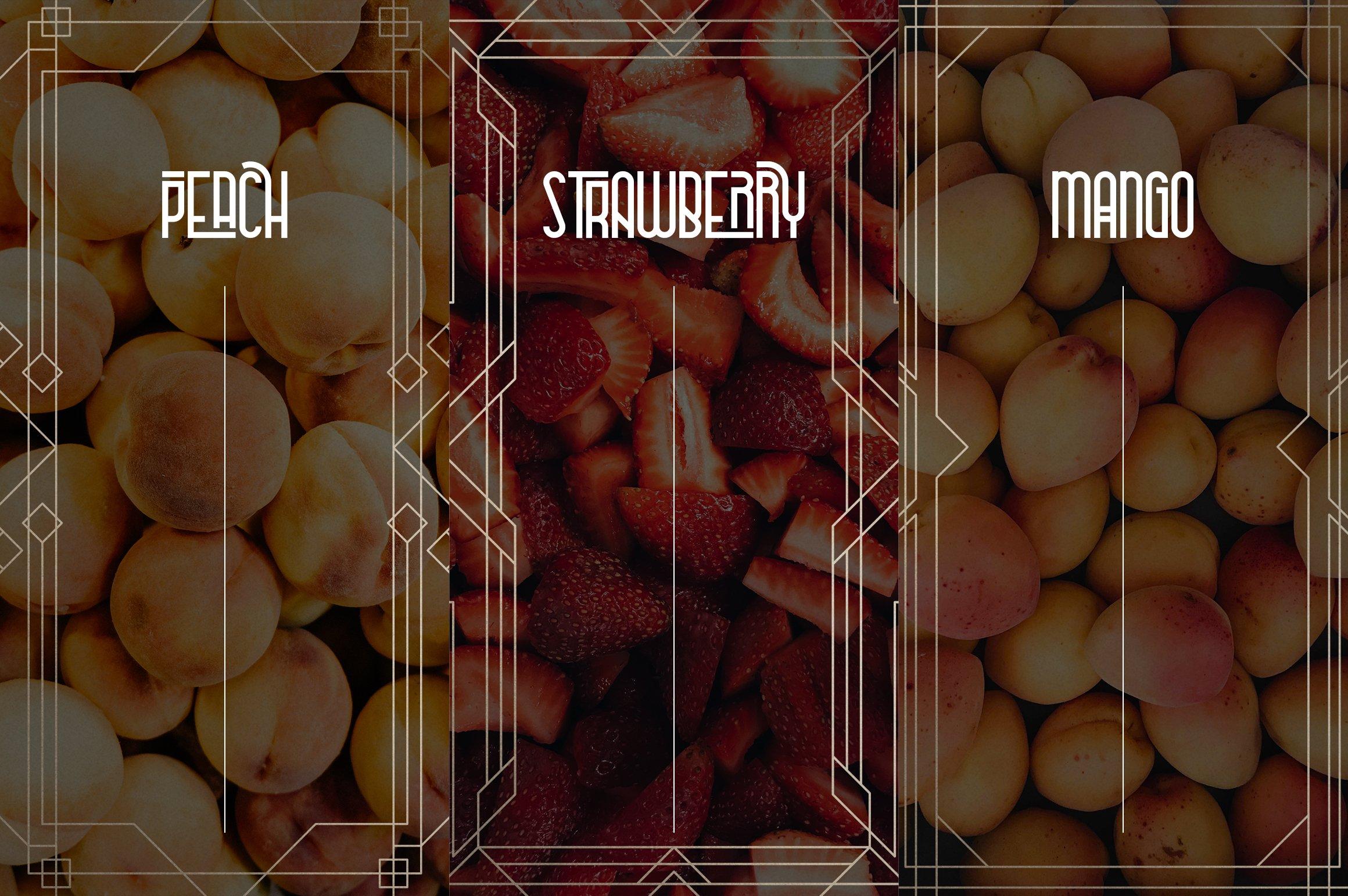 Metria Street - Art Deco Typeface example image 11