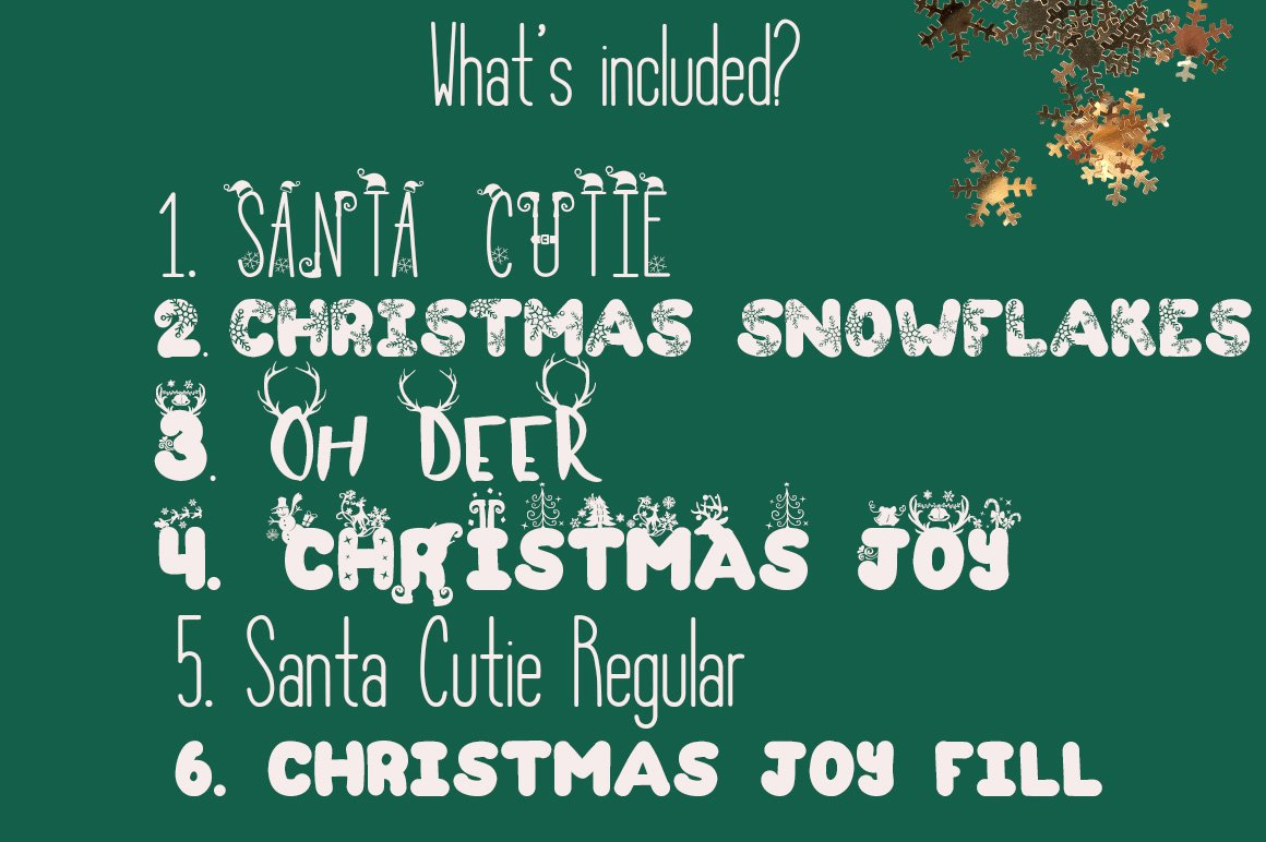 The Christmas Fonts Bundle with 6 Fonts & Bonus example image 4