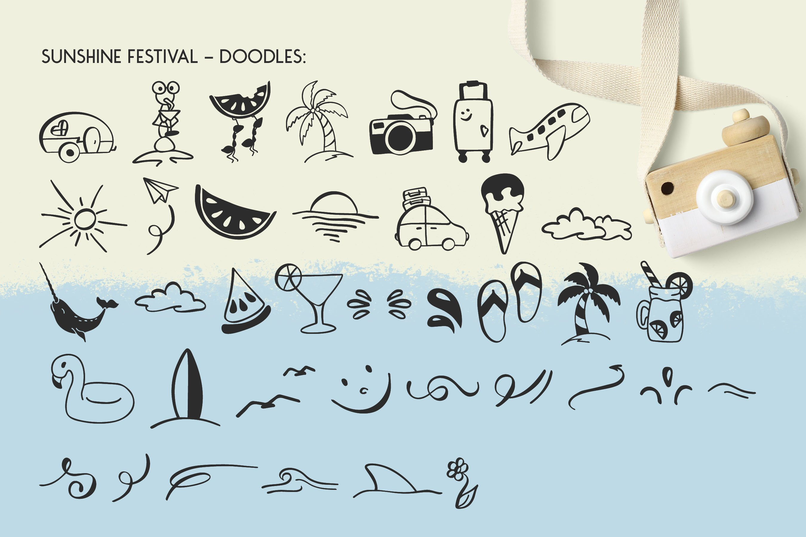 Sunshine Festival - Fun Script Font with Doodles example image 6