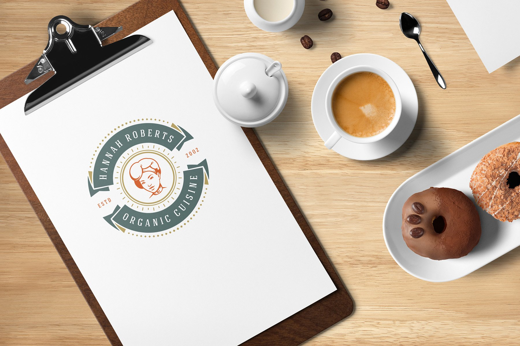 36 Restaurant Logos and Badges example image 14