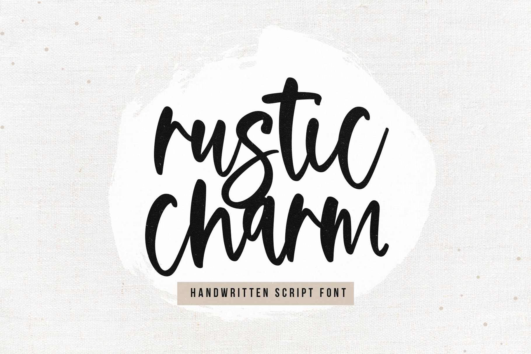 Rustic Charm - A Handwritten Script Font example image 1