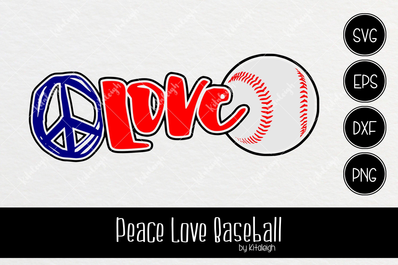 Download Peace Love Baseball 107633 Cut Files Design Bundles