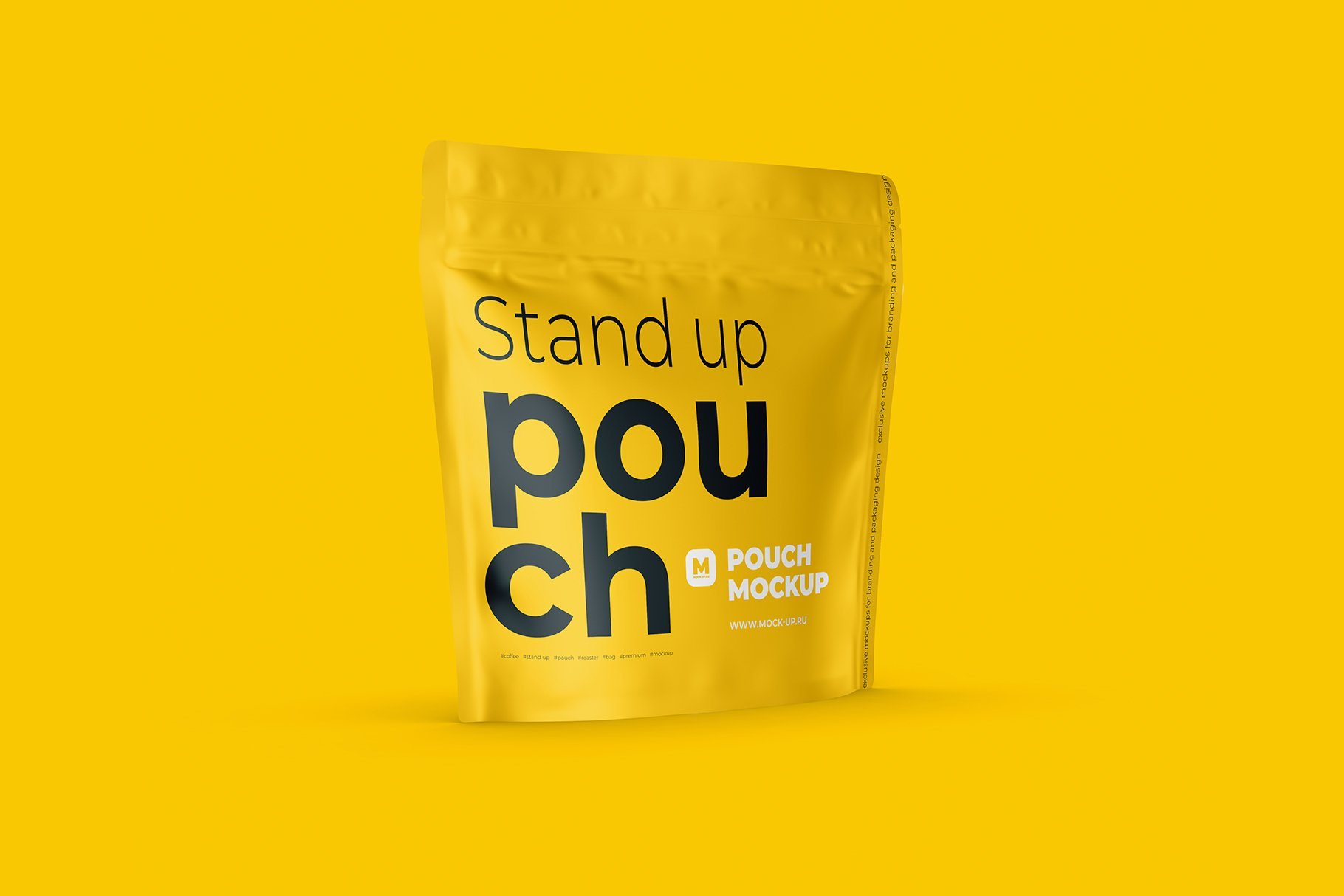 Zip Stand-up Pouch Mockup square example image 5
