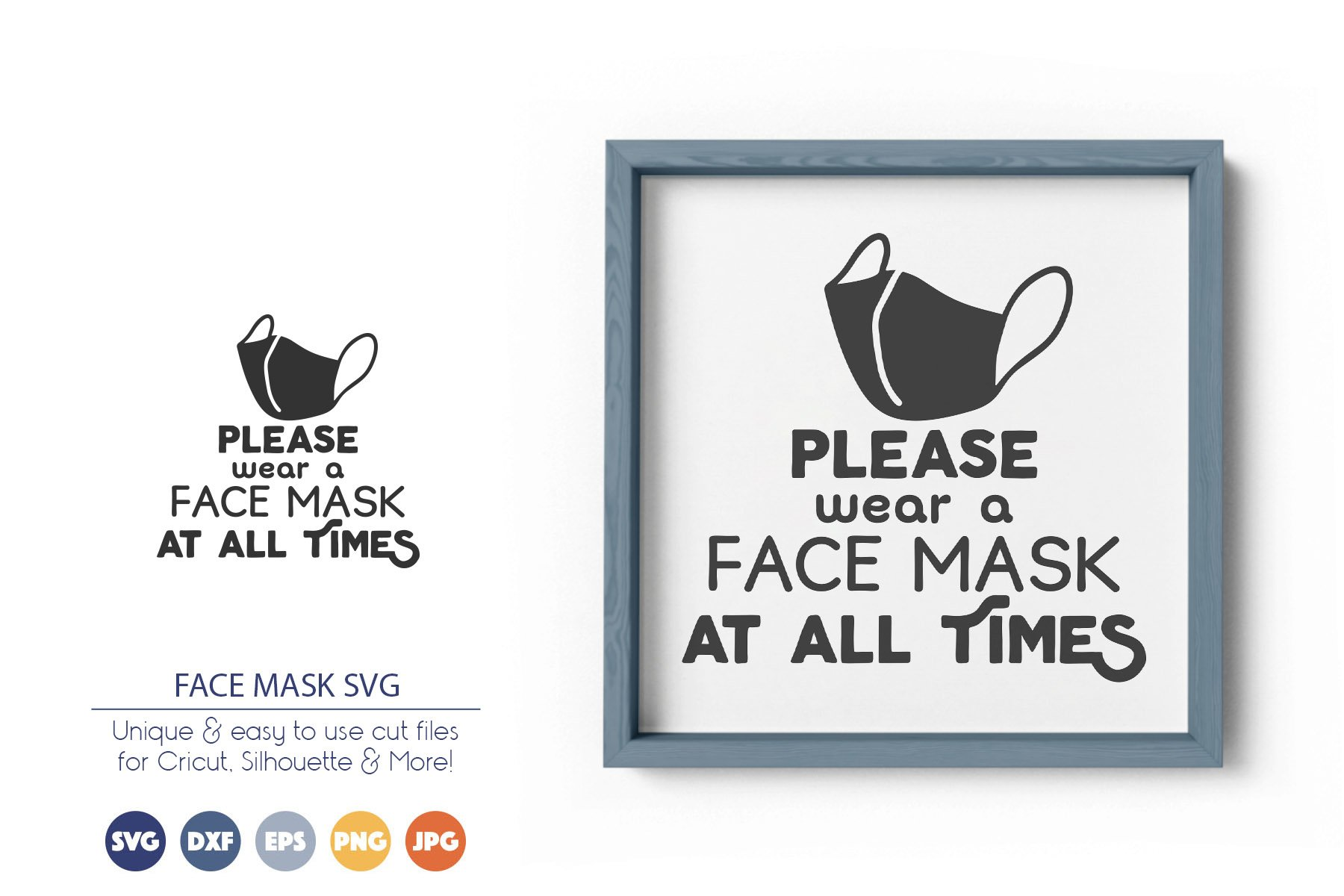Face Mask SVG | Quarantine Sign SVG example image 1