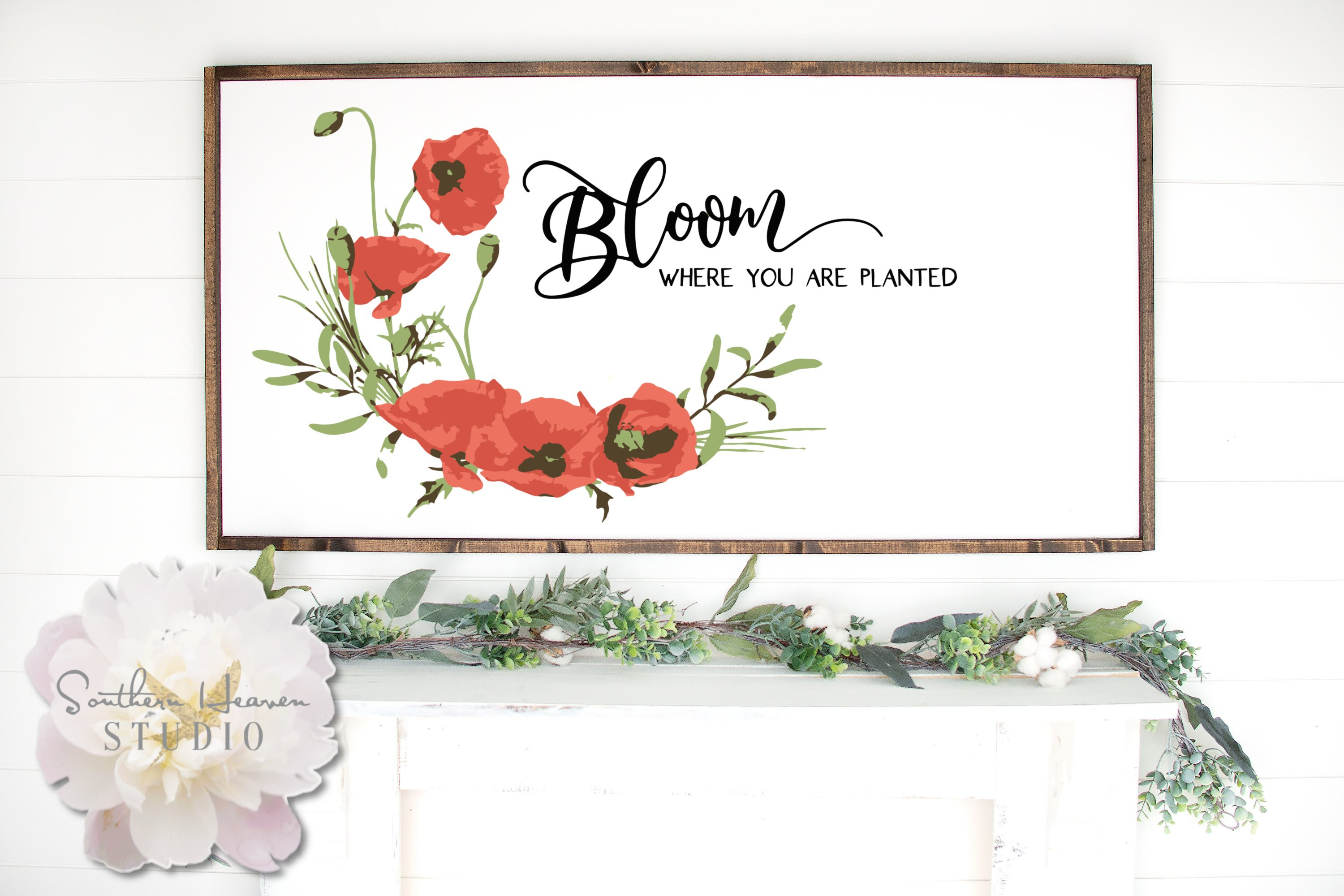 Bloom Where You Are Planted Svg Png Dxf And Eps 558295 Cut Files Design Bundles