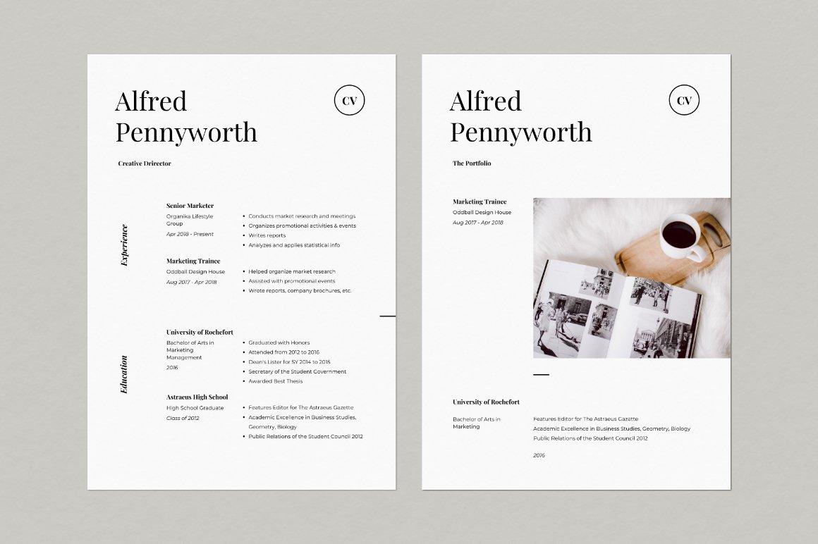 Resume & Portfolio Template - Alfred example image 3