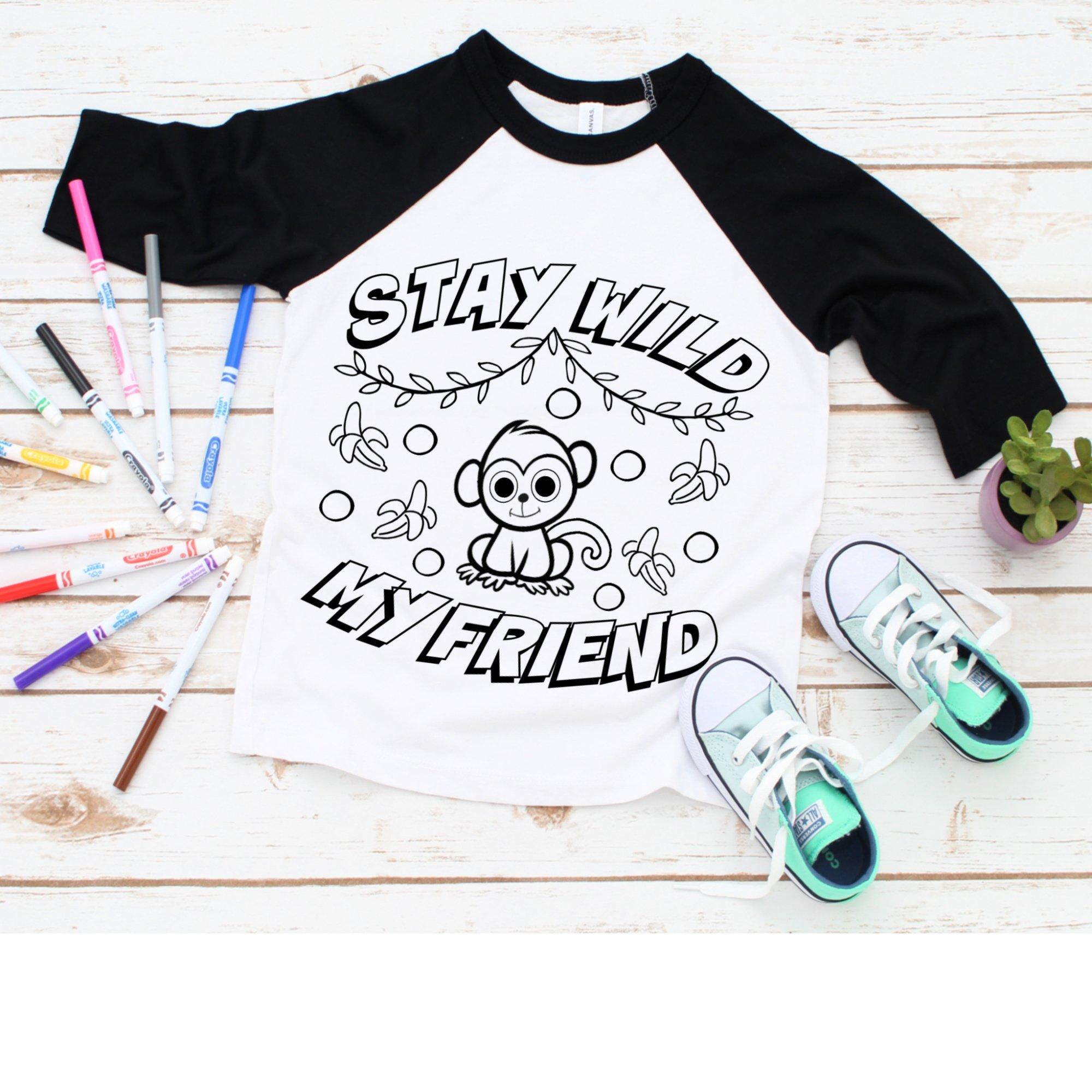 Toddler Coloring Shirt SVG Bundle example image 4