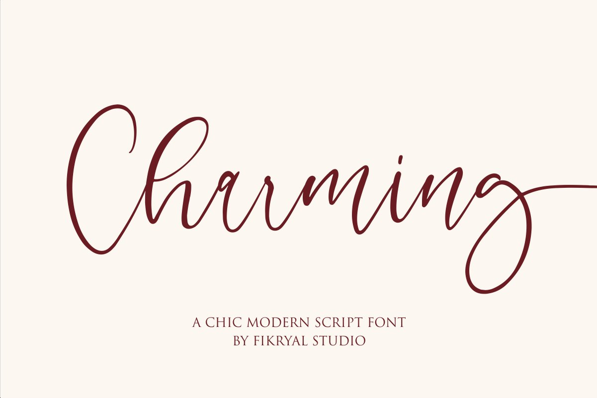Charming - chic modern script font example image 1