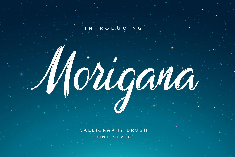 Morigana Hand Brush Calligraphy Font example image 1
