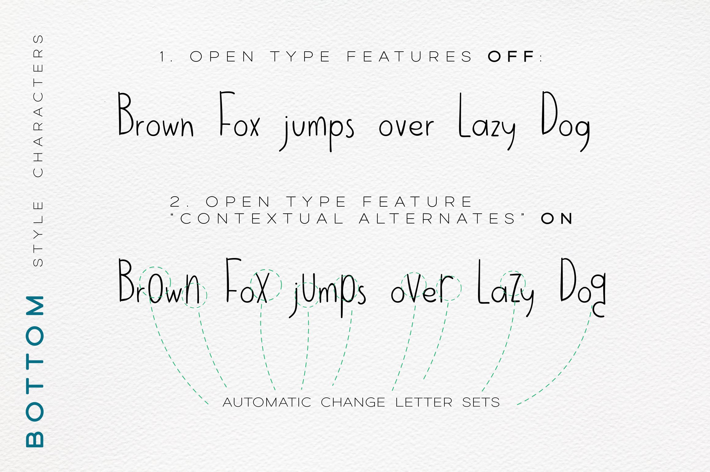 Jumpo Fox - thin bouncy font example image 9