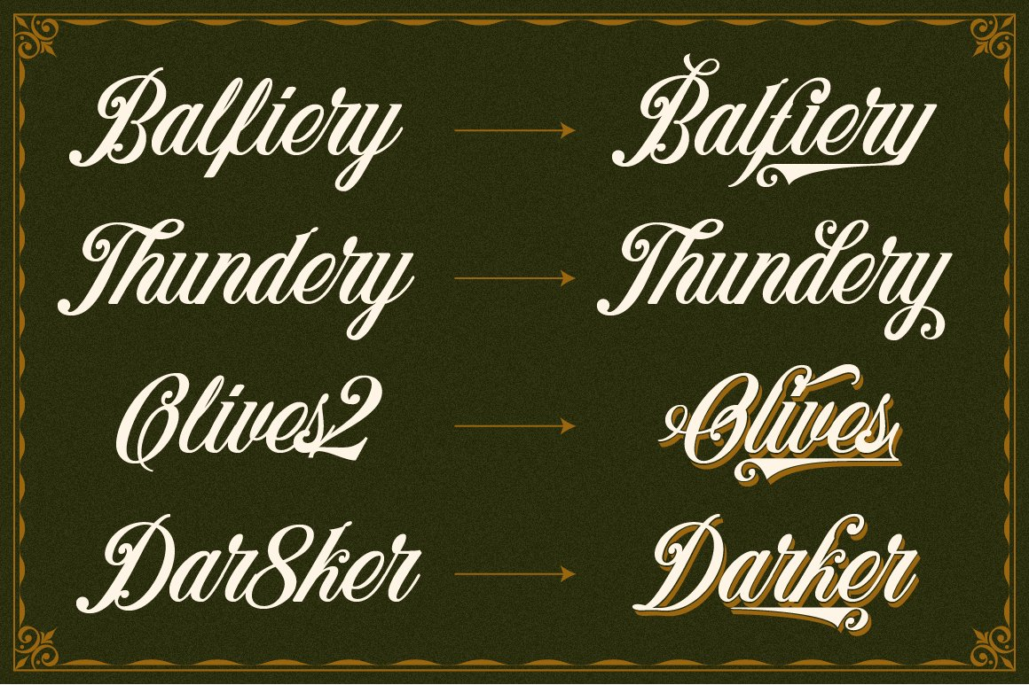 Benford Font Collections with Extras example image 5