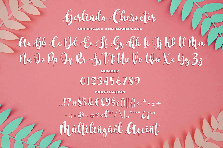 Berlinda - Modern Script Font example image 5