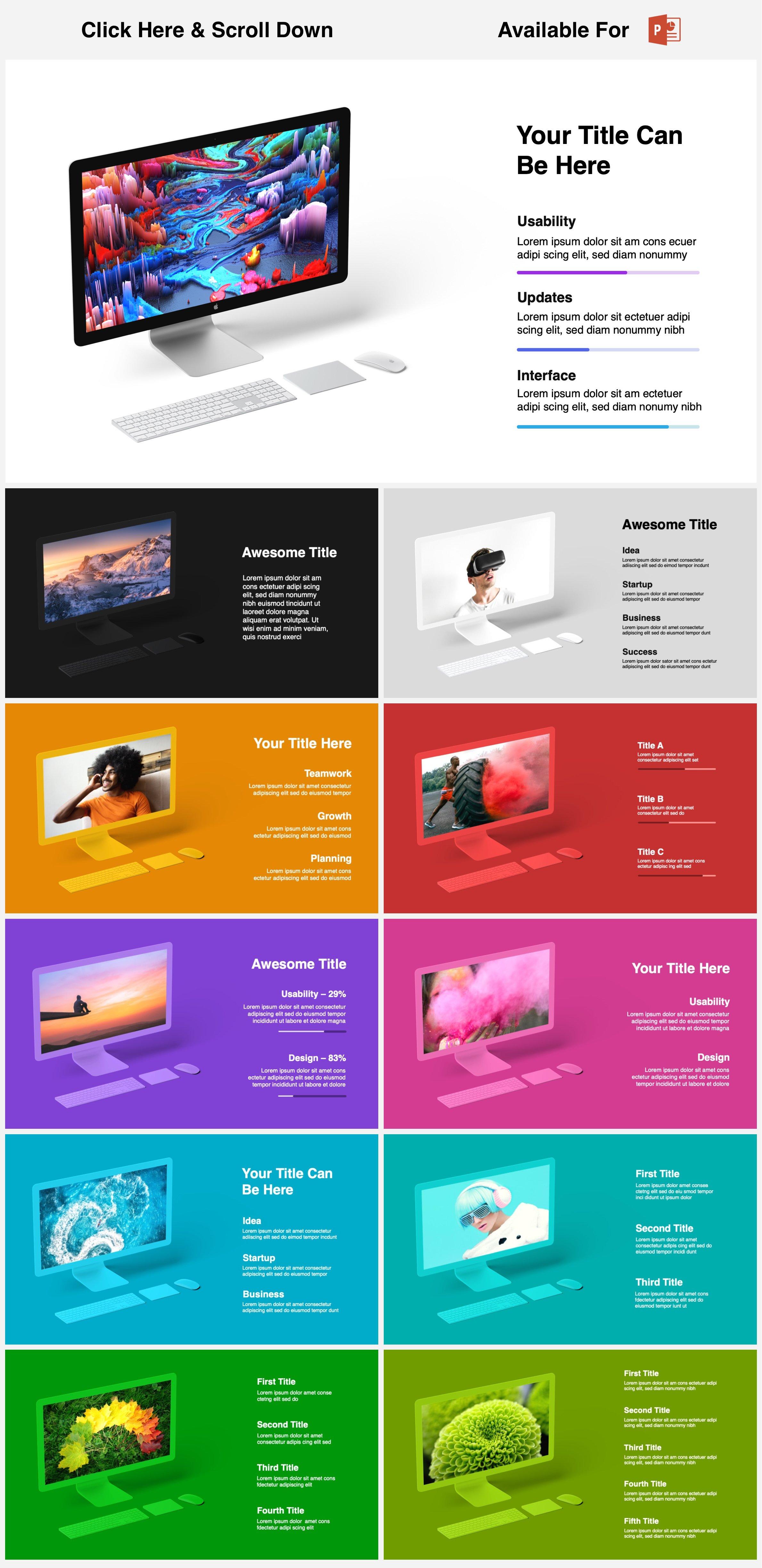 Animated Mockups Presentation Bundle. Infographic Templates. example image 8