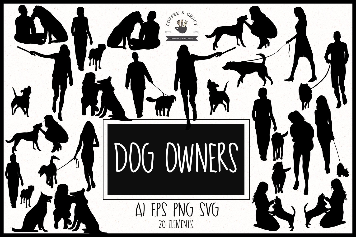 Dog owners clipart example image 1