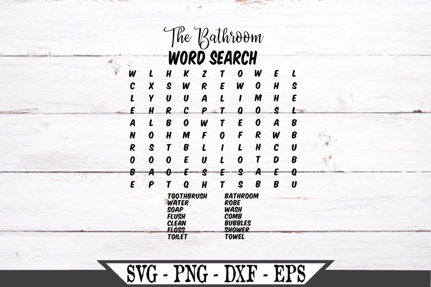 Bathroom Word Search Forgot Your Phone SVG example image 2