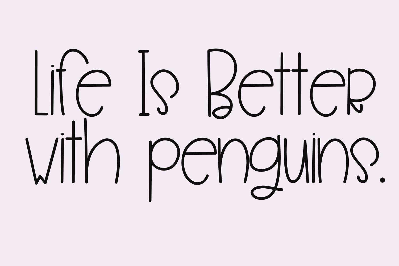 Penguin Farts - A Fun Handwritten Font example image 4