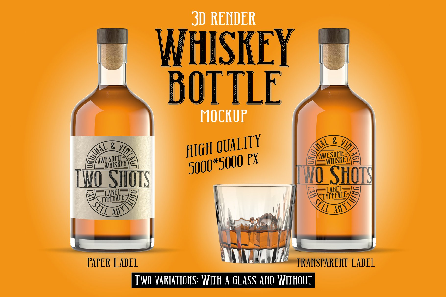 Two Shots label font example image 6