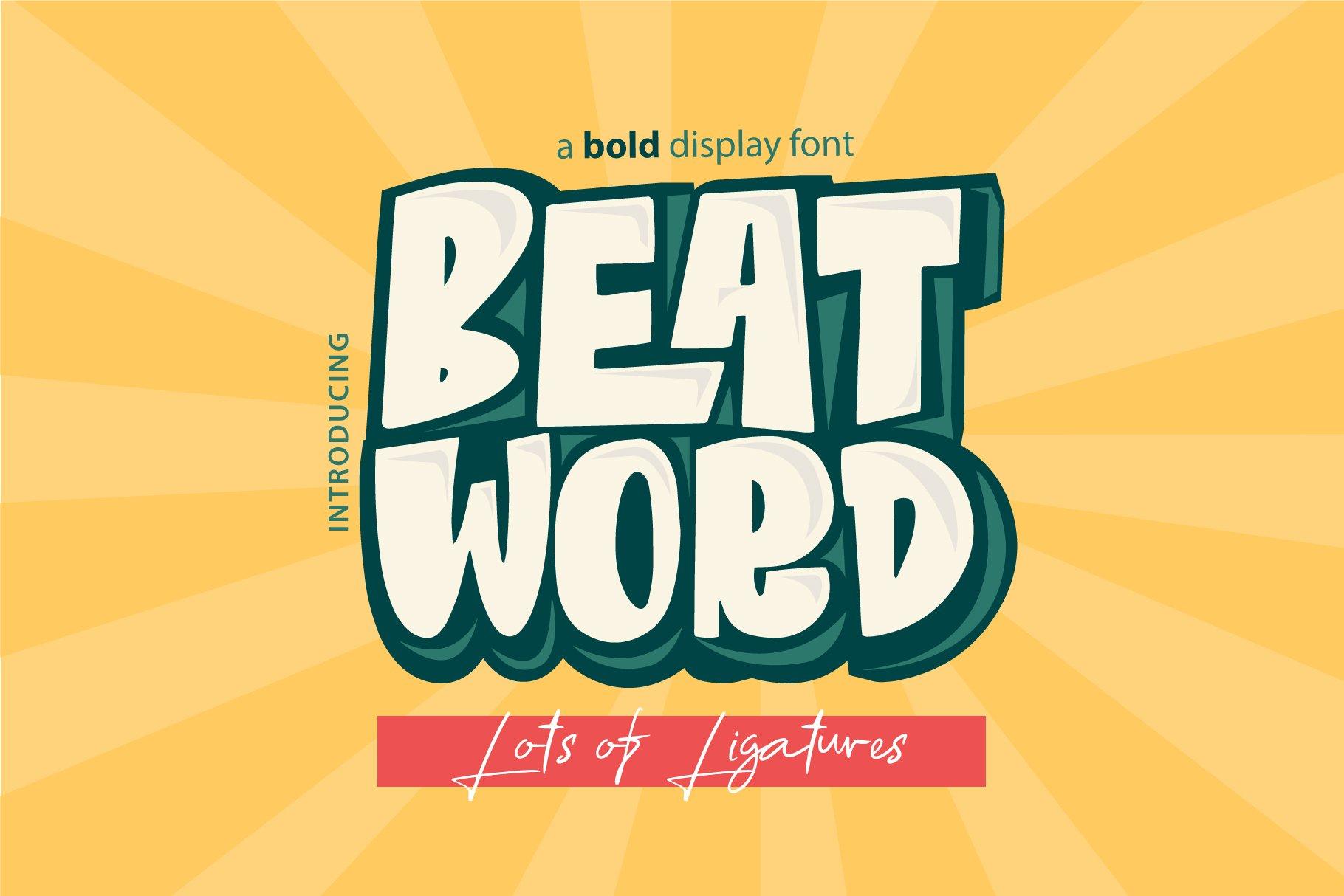 Beat Word | Bold fun Display example image 1