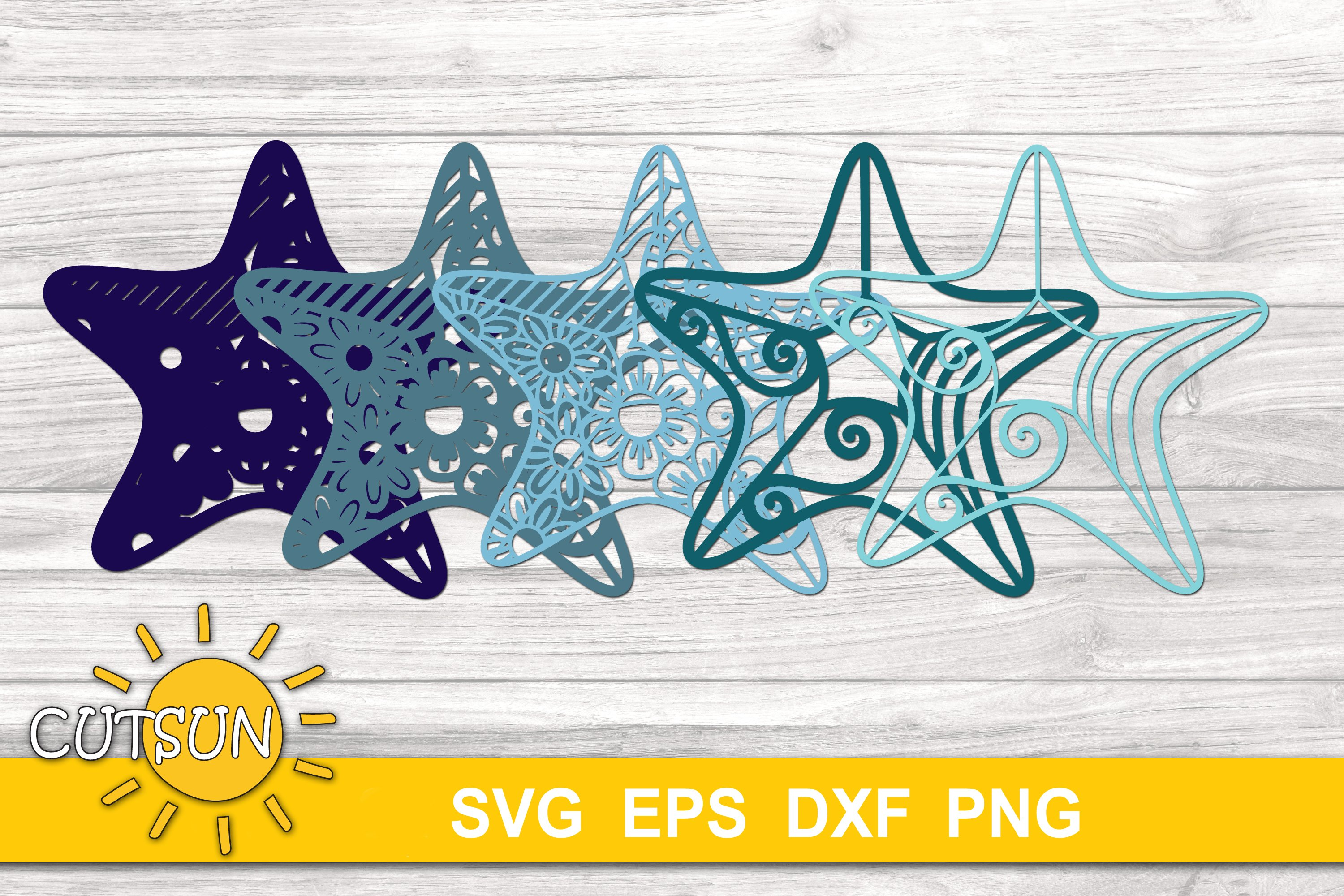 Download 3D Layered Starfish Mandala SVG for crafters 5 layers ...