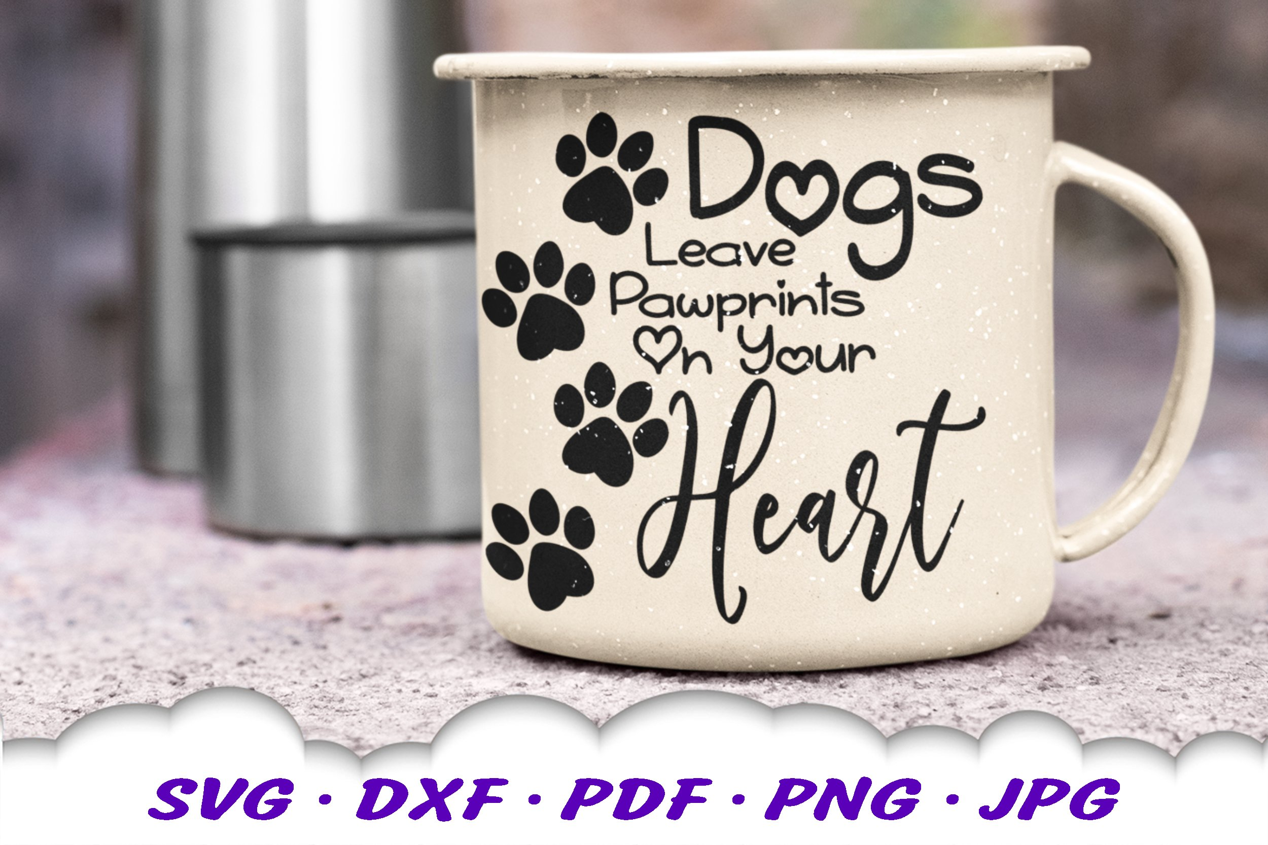 Dog Mom Paw Print Bundle SVG DXF Cut Files example image 9
