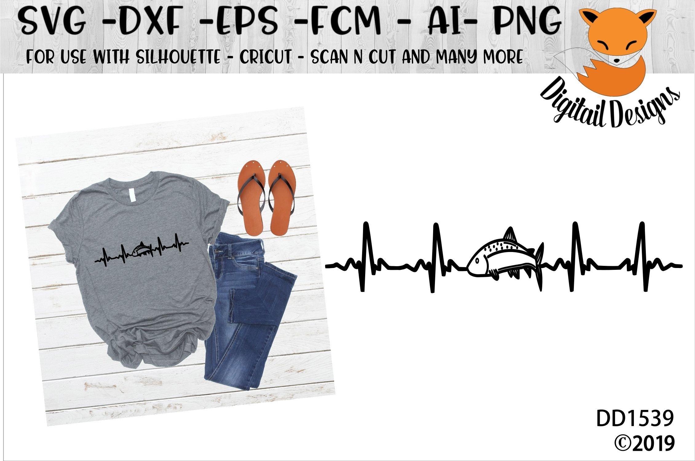 Download Fishing Ekg Heartbeat Svg 95541 Cut Files Design Bundles