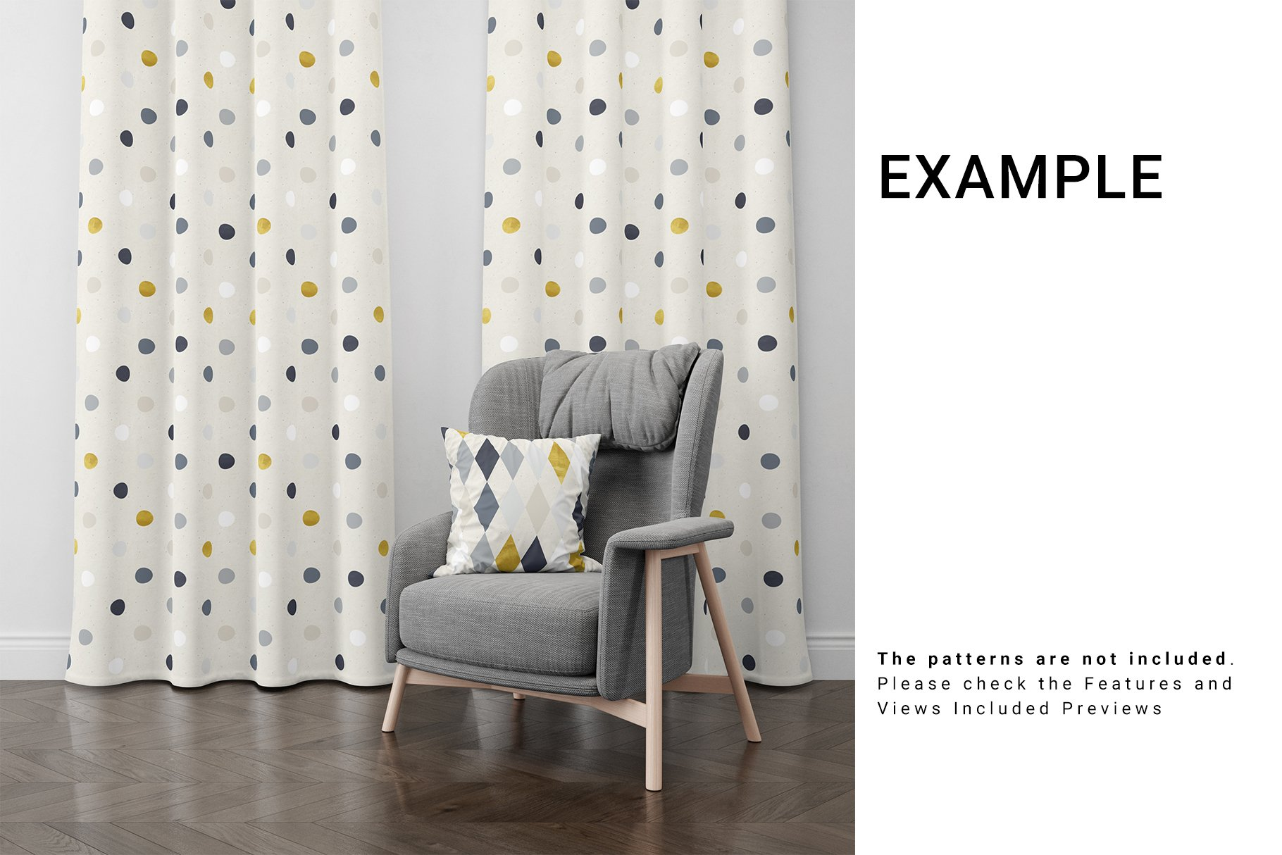 Curtains and Pillow Set example image 4