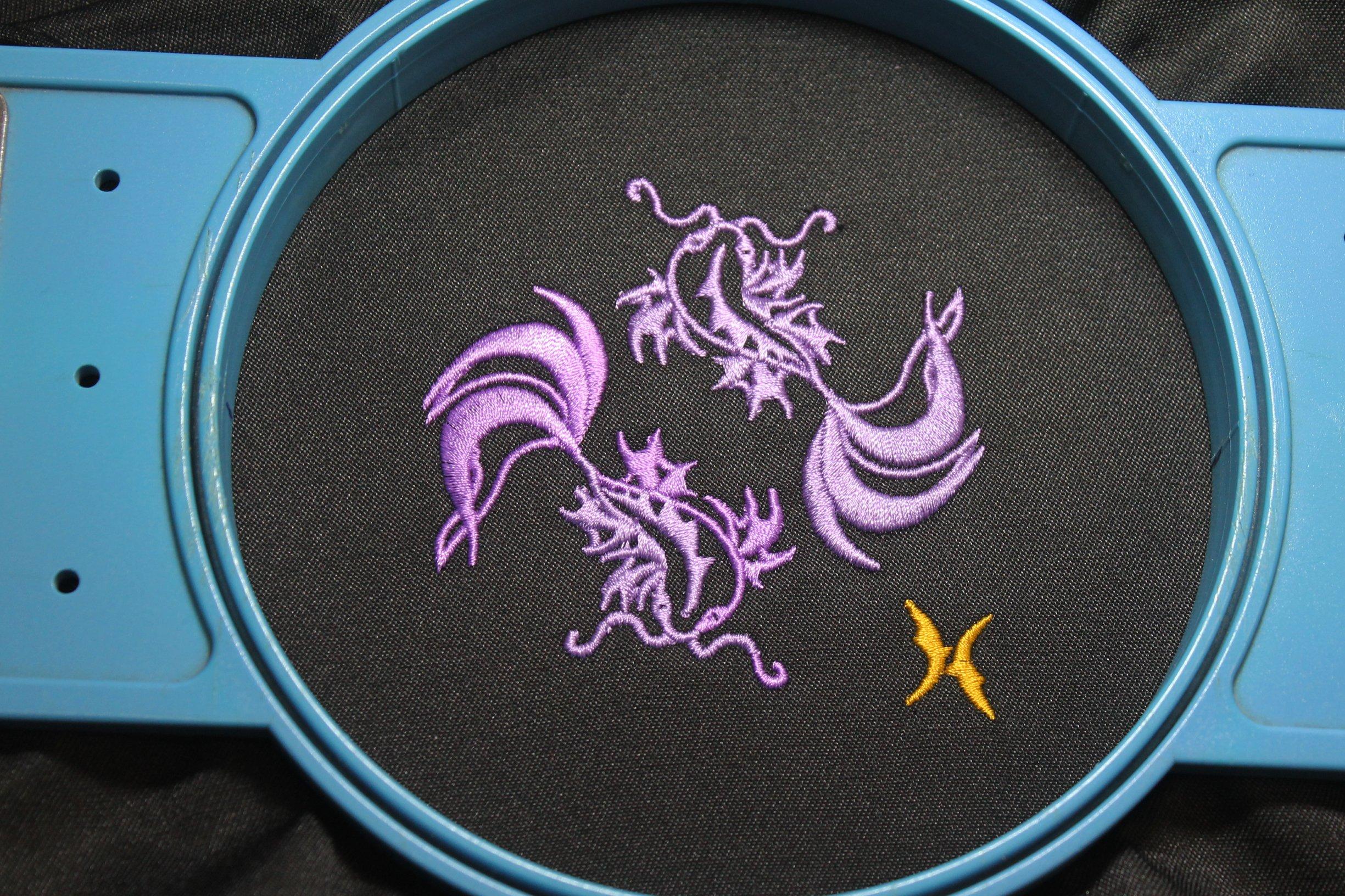 Pisces Zodiac Sign - machine embroidery design, satin stitch example image 5