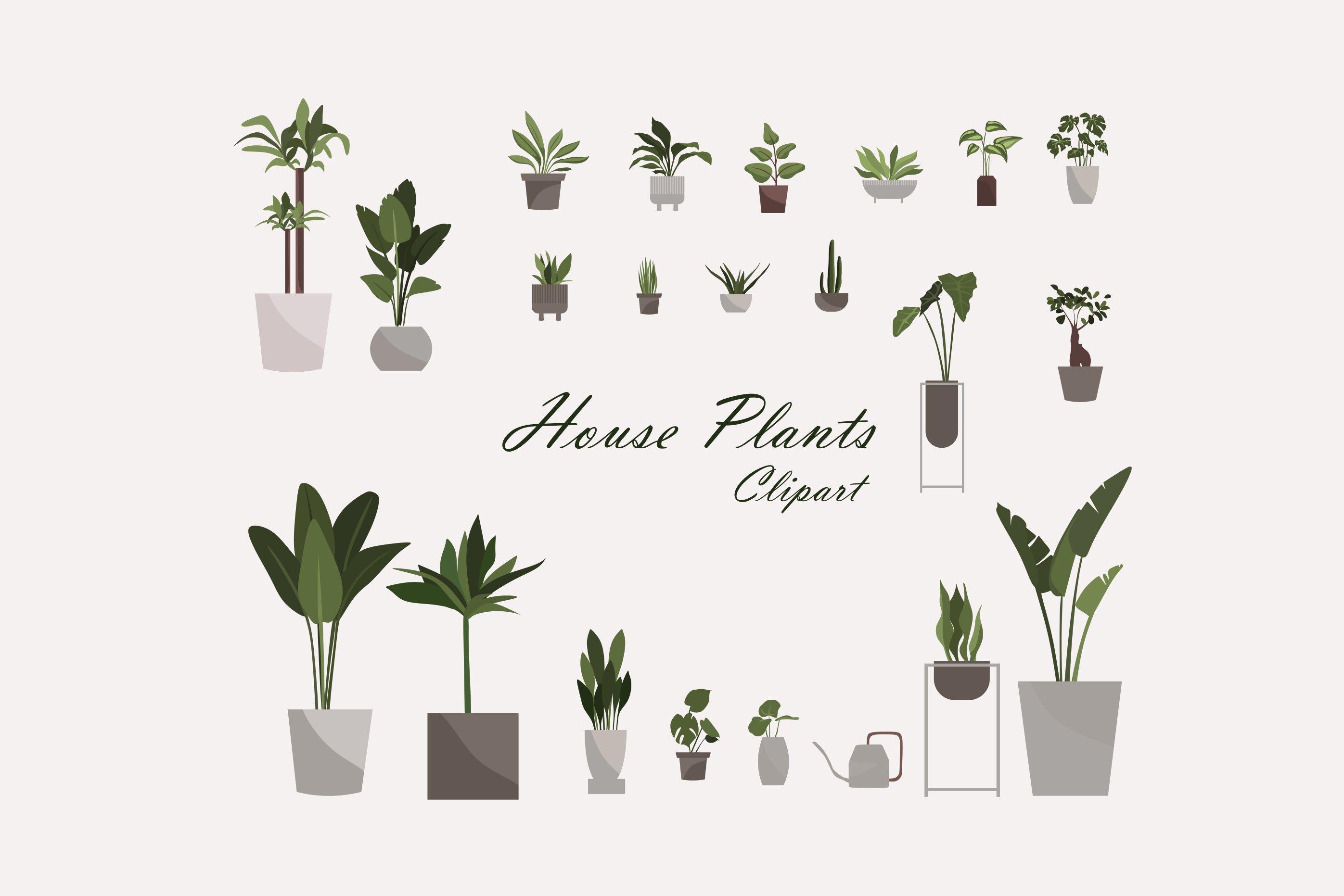 House Plants Clip Art Potted Plant Clip Art Plants Clip   Etsy