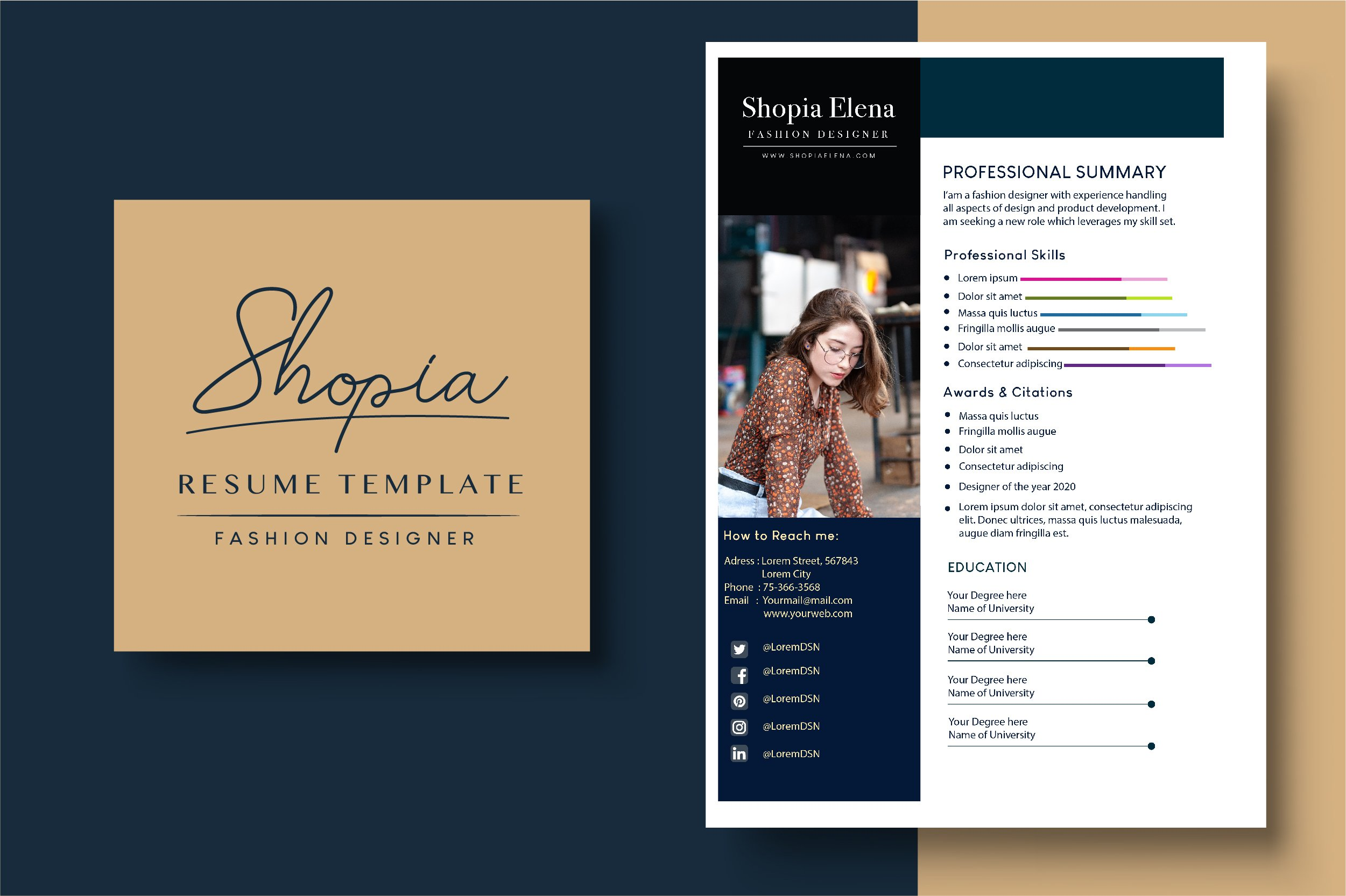 Resume Template Fashion Designer 705500 Resume Templates Design Bundles