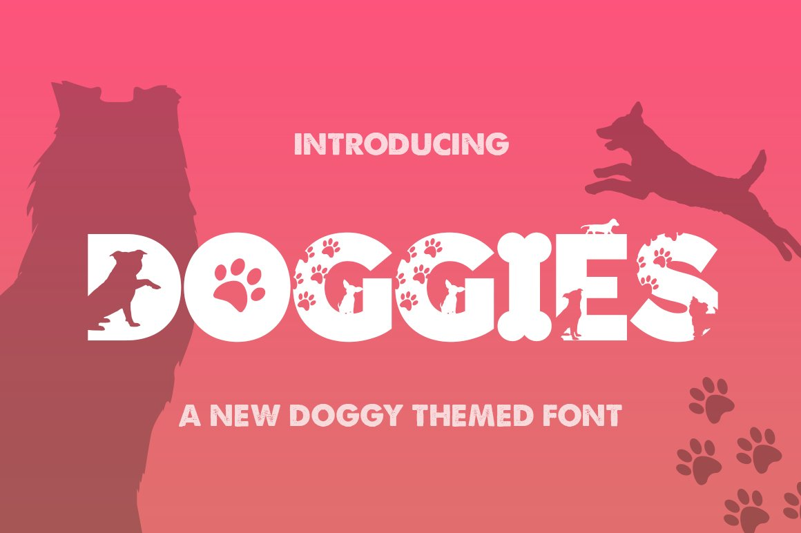 Doggies Silhouette Font example image 1