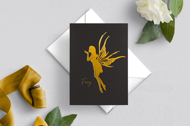 Fairies silhouettes set example image 4
